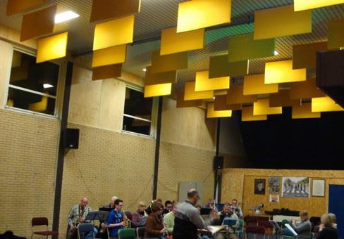 Baffle Tavan Paneli Müzik Odası Uygulaması